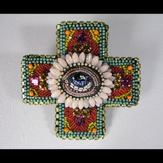 Square Cross with Eye by Betsy Youngquist
