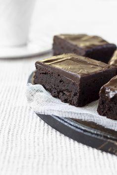 Mascarpone brownies with dark chocolate ganache 2