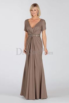 Elegant Sheath Mother of the Bride Dress with Glistening Beadings and Sequins, Vintage Mother of Bride Dresses - dressale.com