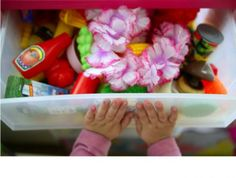 Here's some tips on organizing your kids' toys.
