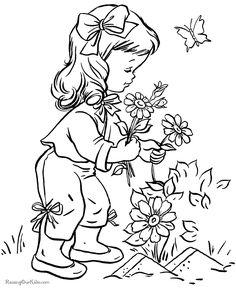 flower printabl, pattern, sweet printabl, digi, pick flower, kid