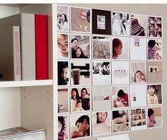 DIY Photo Wall: Love this!