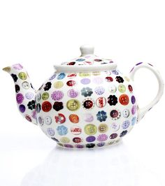 Buttons Tea Pot  by Lily and Lime Home