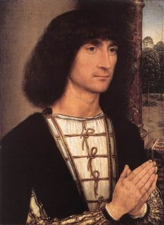 MEMLING, Hans  Portrait of a Young Man  1485-90
