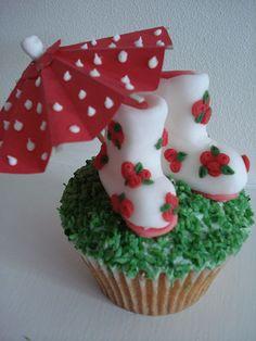 Summer Rain Cupcakes....