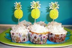 Pineapple Cupcakes (no frosting recipe)