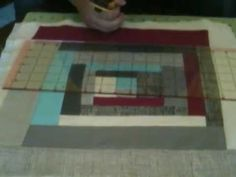 Quilt-as-you-go Log Cabin Block Tutorial