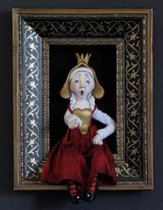 Queen of Heartssculpted figure/doll in by FriedericyDolls on Etsy, $600.00
