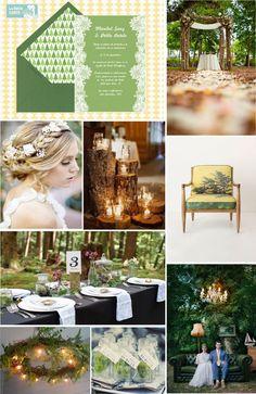 Invitaciones de boda, invitaciones para boda, boda en el bosque, ideas para bodas, bodas en verde