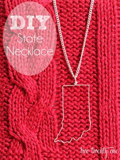 DIY state necklace tutorial