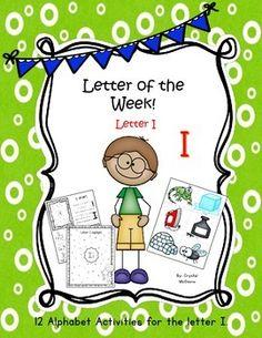 "Alphabet Letter ""i""! (12 Letter Recognition/Sound Activite"