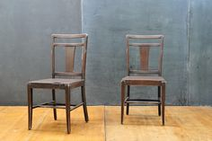 Old Mezzerahl Leather Industrial Chairs W: 17¾ x D: 18 x Seat H: 18¼ x Back H: 36½ in.