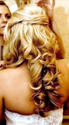 Hairstyles For Long Hair Under A Hat : Long Blonde Curls on Pinterest Dyed Hair Underneath, Hat Hairstyles