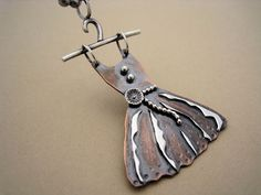 Necklace |  Rebecca Bogan. Copper sheet and sterling