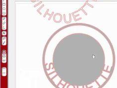 silhouett cameo, circl, cameo silhouette tutorial, silhouett video, place font, font insid