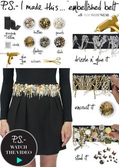 26 DIY Summer Inspiration Ideas, DIY Embellished Belt