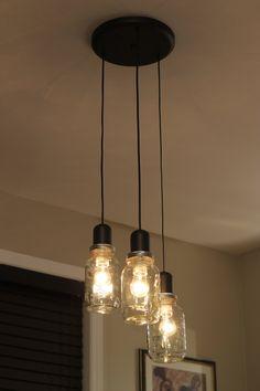 Mason Jar Light Chandelier Pendant.