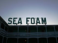 Ahhhh. The Sea Foam Motel at Nags Head, NC. A wonderful vintage place to stay right on the beach.
