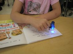 Best Guided Reading Group Tip Ever- Finger Lights!  (Now-- where to find these?)