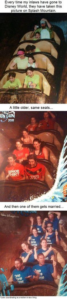 Pictures on Disneys Splash Mountain over time...