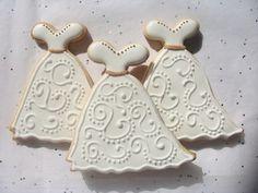 Galleta Decorada de Vestido de Novia  Wedding Dress Decorated Cookies