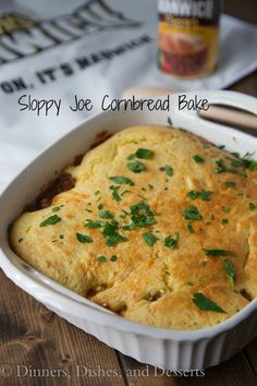 Sloppy Joe Cornbread Bake
