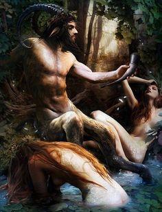 Satyr & Nymphs // by W. Bouguereau