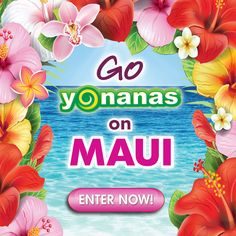 We want you to win a trip for 2 Maui & Go Yonanas! ENTER Daily until December 21, 2014 to increase your chances.
