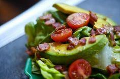 Bacon, lettuce, avocado, and tomato salad