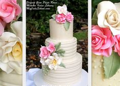 Beautiful Gum Paste Roses~ Video Tutorial from @My Cake School