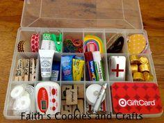 #Backtoschool Teacher Survival Kit....#washitape, #woodentags, #littlescissors, #metalbox, #vinyl and #paperclips from #Pickyourplum #timer, #littleminiflashlightlaser from #dollartree