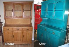 Hand painted and distressed furniture!