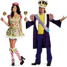 unique easy sexy couples costumes | Mr. and Mrs. Candyland Halloween costumes © Photo courtesy of ...