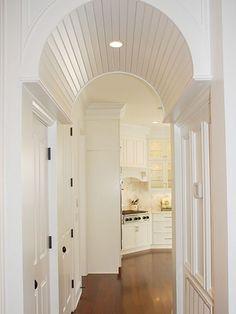 hallways, barrels, arches, barrel vault, beads, barrel ceil, homes, white interiors, vaulted ceilings