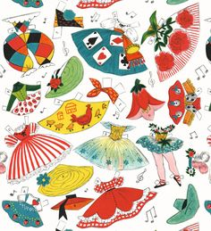 Paper Doll Wrapping Paper