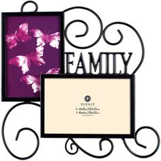 Burnes Family 2 Opening Wire 4x6 Photo Frame