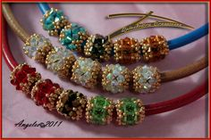 Muestrario Pieza Armonia  BEADED BEADS TO HANG ON A ROPE. TUTORIAL
