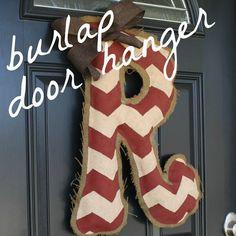 Live a Little Wilder: burlap door hanger {tutorial}. Initials, holidays, etc!