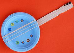 Summer Crafts For Preschoolers | Crafts for Kids Blog » Tutorial : Paper Plate Banjo Music Craft