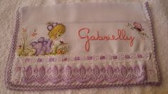toalha de boca de tecido fralda..com pintura