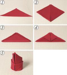 Really Easy Flower Napkin Fold Folding Pinterest