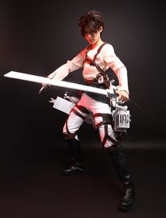 Cool Eren Jaeger Cosplay Attack On Titan Costume