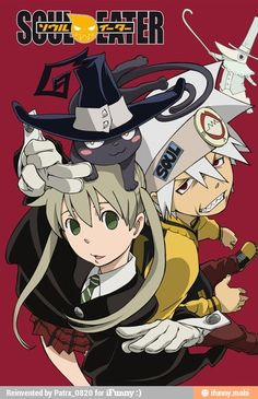 Maka, Soul and Blair as cat (from SOUL EATER)