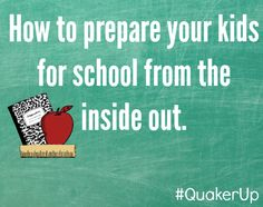 Great advice for getting children ready for school.