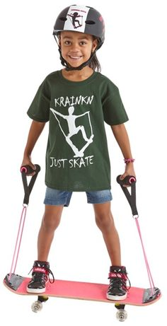 Krainkn Skateboards: Great gift for kids. The flexible straps help keep beginning riders on the board
