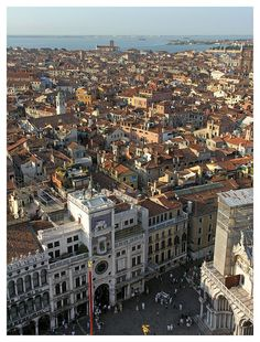 Looking down to the Piazza San Marco and across Venice, Italy