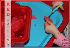 red toddler activities