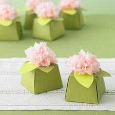 wedding favor boxes rose