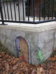 Oh man, I have wanted to go crazy and chalk graffiti some public area for so long now!  I need to be like David Zinn who makes these adorable chalk drawings in Ann Arbour.