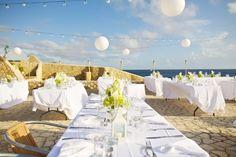 Modern Beach Wedding Lime Green Jamaica